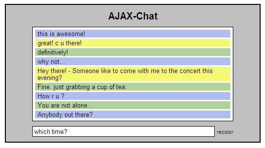 SimpleTalk - a simple ajax chat